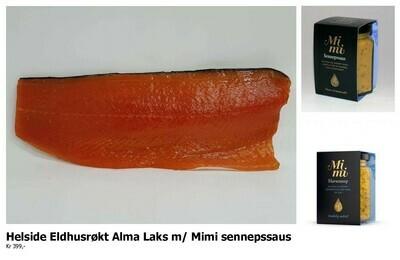 ELDHUSRØKT ALMA LAKS, 1/1 side m/ Mimi Sennepssaus