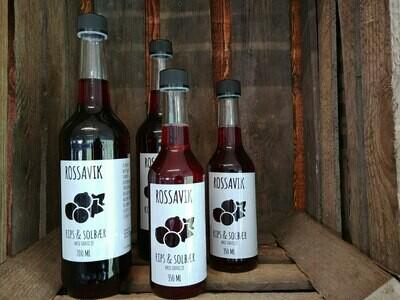 Drikkeklar rips & solbærsaft fra Rossavik 350 ml
