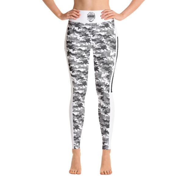 Grey Camo Yoga Leggings