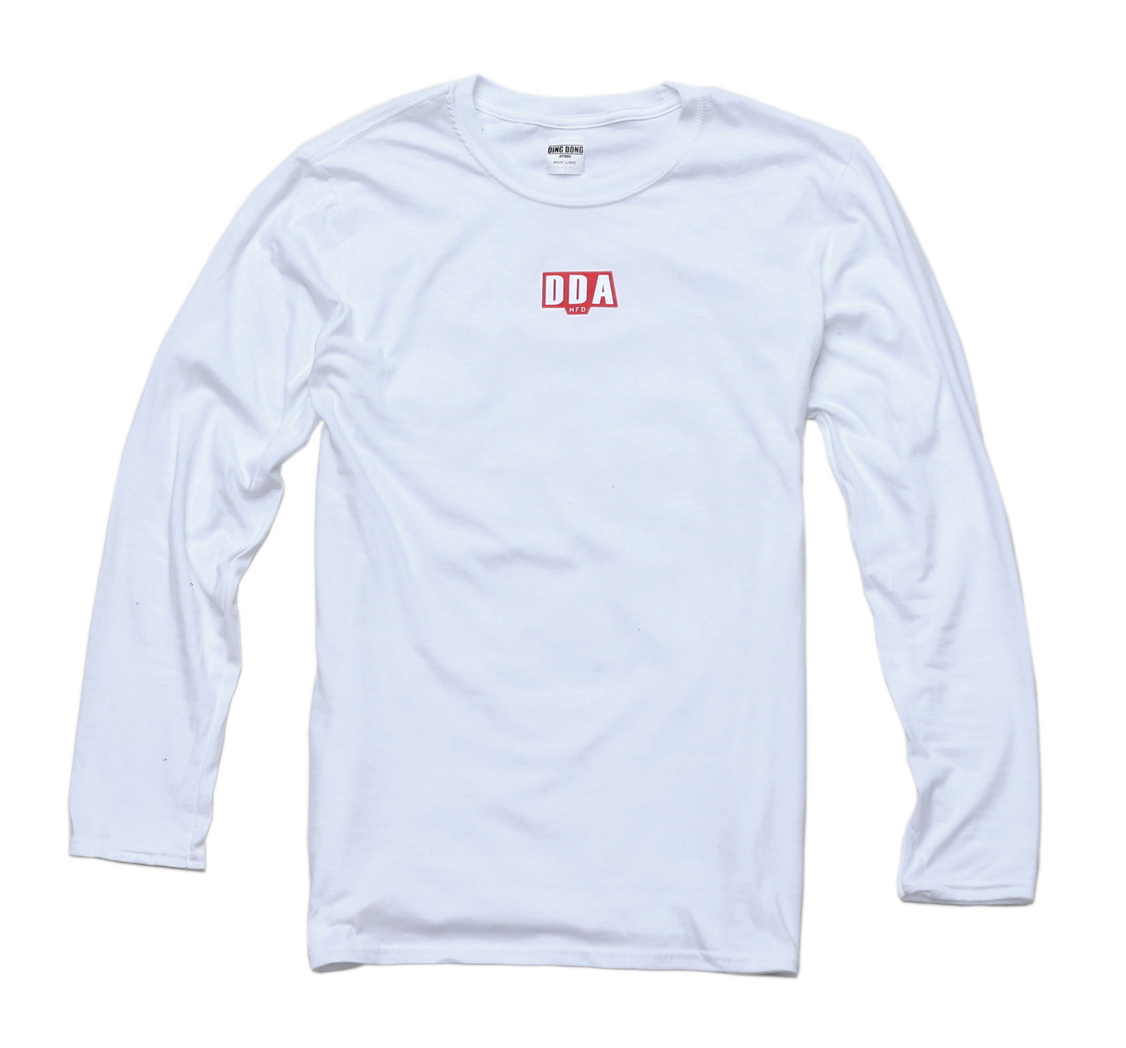 DDA Hfd LS Tee - White/Red 00004
