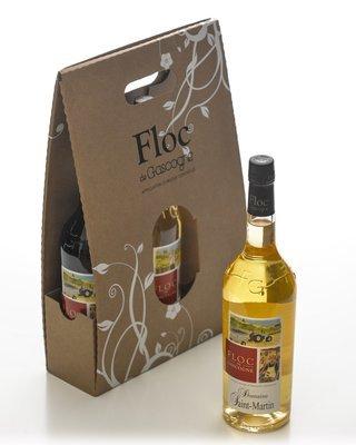 Valisette 3 bouteilles de Floc, rouge, blanc, ou mixte - Bouteilles 75 cl