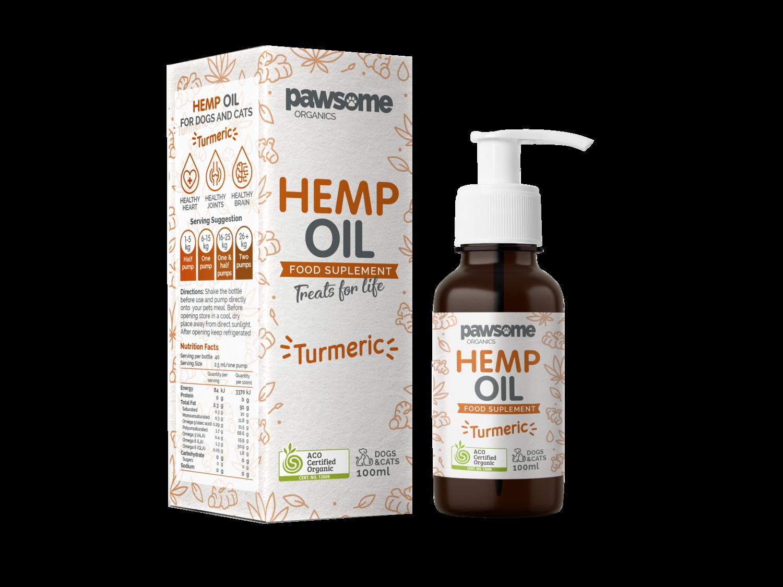 Organic Hemp Oil and Turmeric
