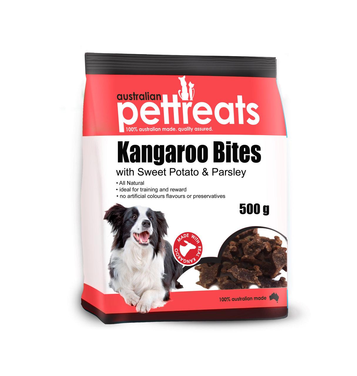 Kangaroo Bites / Straps with Sweet Potato and Parsley