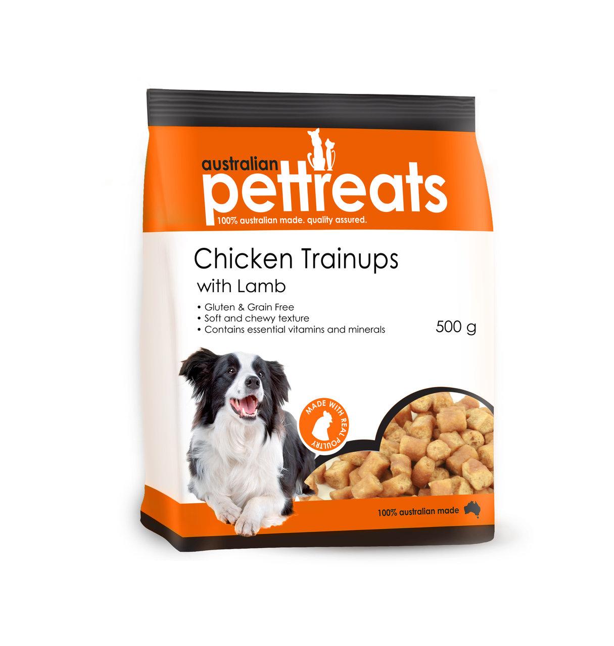 Chicken Trainups with Lamb Gluten and Grain Free