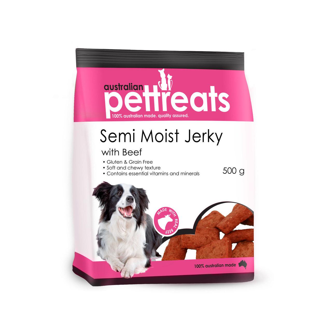 Semi Moist Jerky 4 Flavours - Gluten and Grain Free
