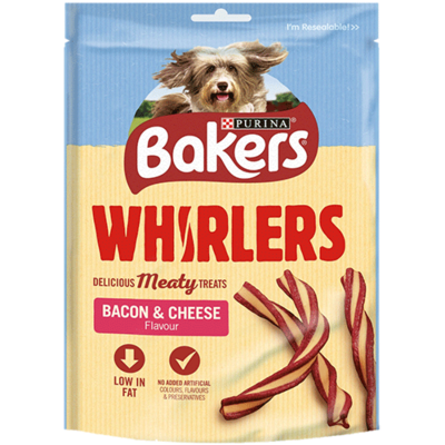 Bakers Whirlers Bacon Cheese Treats 130g