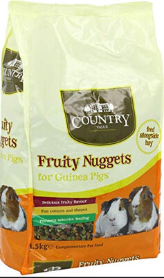Burgess Country Value Fruity Nuggets Guinea Pig 1.5kg