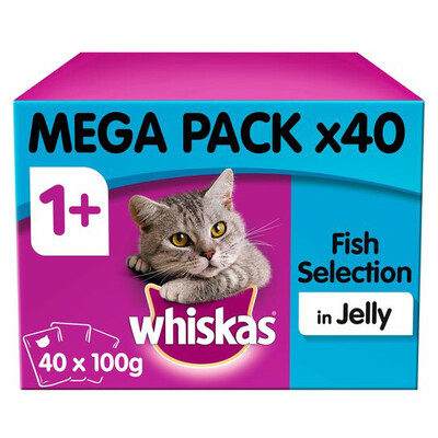 WHISKAS FISH SELECTION IN JELLY PK 40 POUCHERS