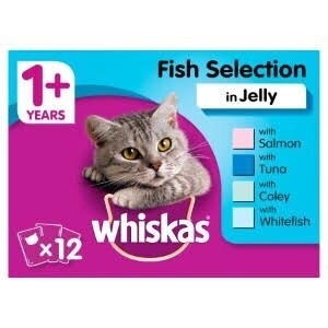 WHISKAS FISH SELECTION IN JELLY 12 POUCHES