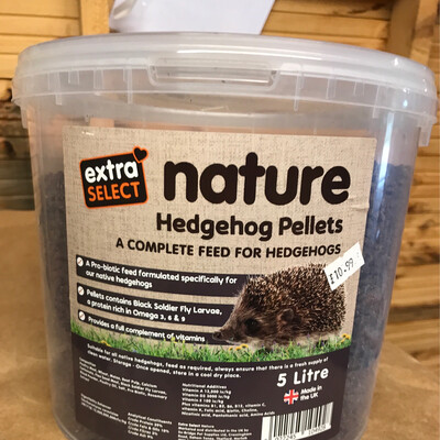 Nature Hedge Hog Pellets 5 Litres