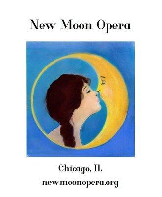 PRESALE: Grey New Moon Opera Logo Zip Hoodie