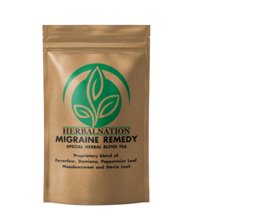 MIGRAINE SUPPORT FORMULA Feverfew, Damiana, Meadowsweet and Peppermint