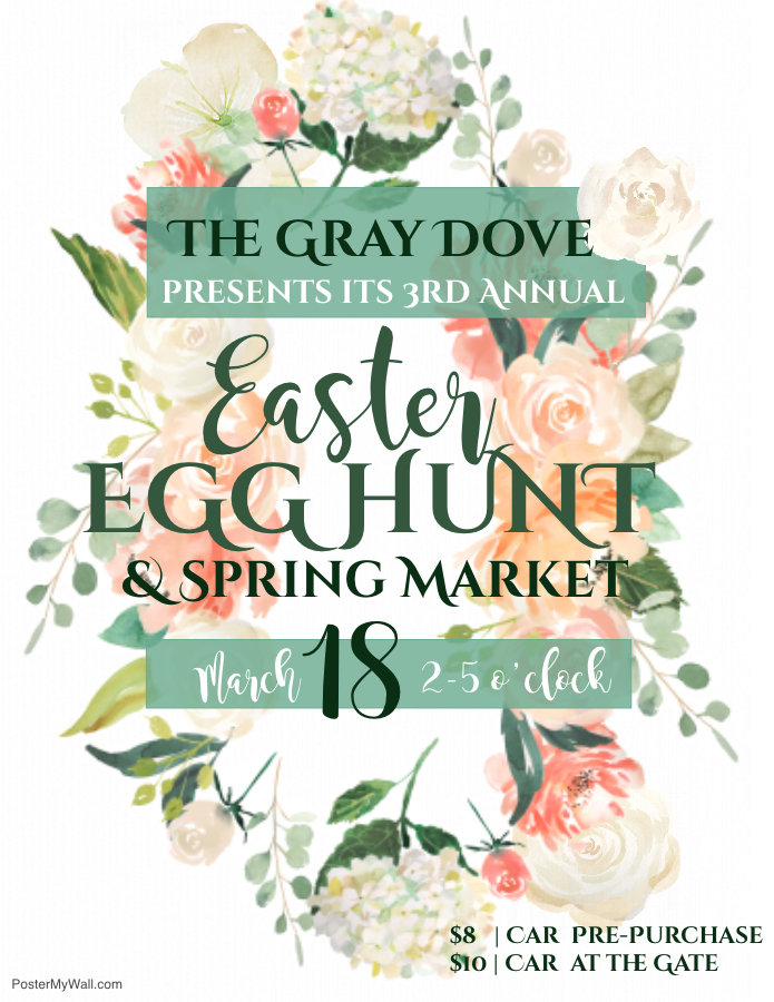 Pre-Purchase Egg Hunt & Spring Market Ticket (Per Car) PLEASE PRINT RECEIPT FOR ENTRY.