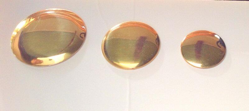 Rosettes - Plain Round- Brass