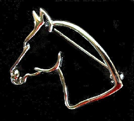 Horsehead Brooch Pin