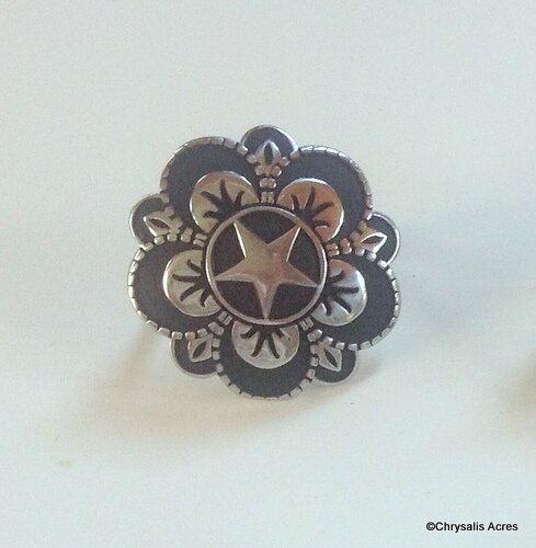 Rosettes - Black Accent Floral Star