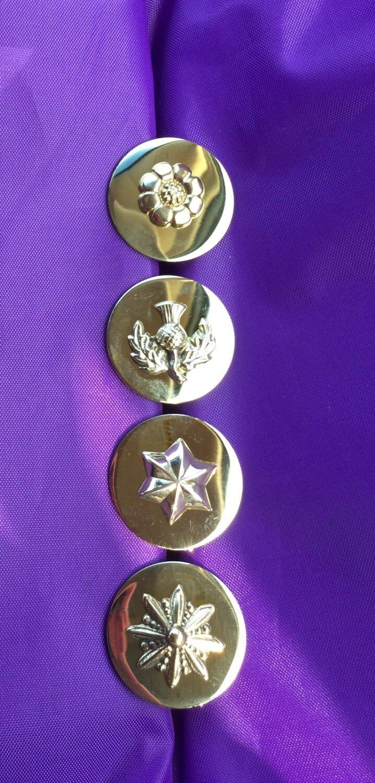 Rosettes - Brass-embellished