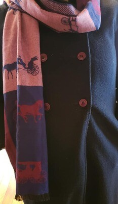 Cashmere Carriages Winter Scarf