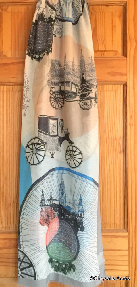 Scarf - European Cities and Carriages
