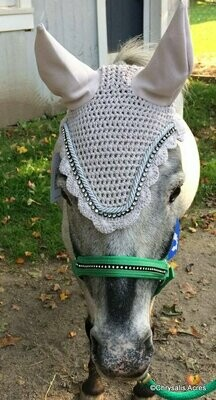 Crochet Ear Net w/Bling - Pony