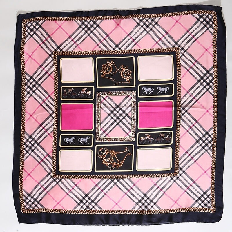 Scarf - Plaid w/carriages