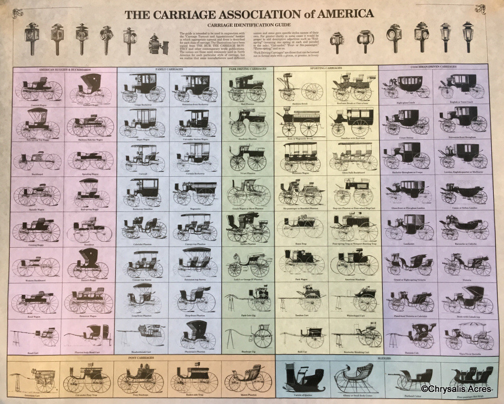 Antique Carriage Identification Poster