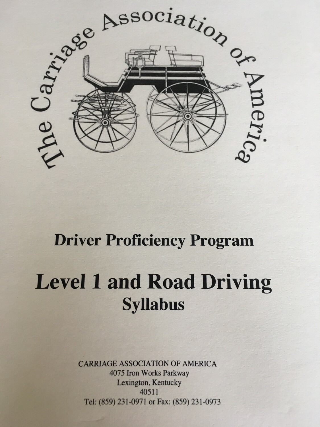 CAA Driver Proficiency Program - Level 1 and Road Driving