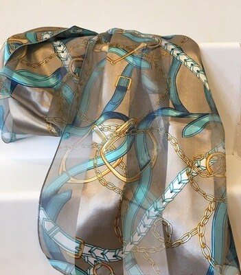 Scarf - Teal Straps