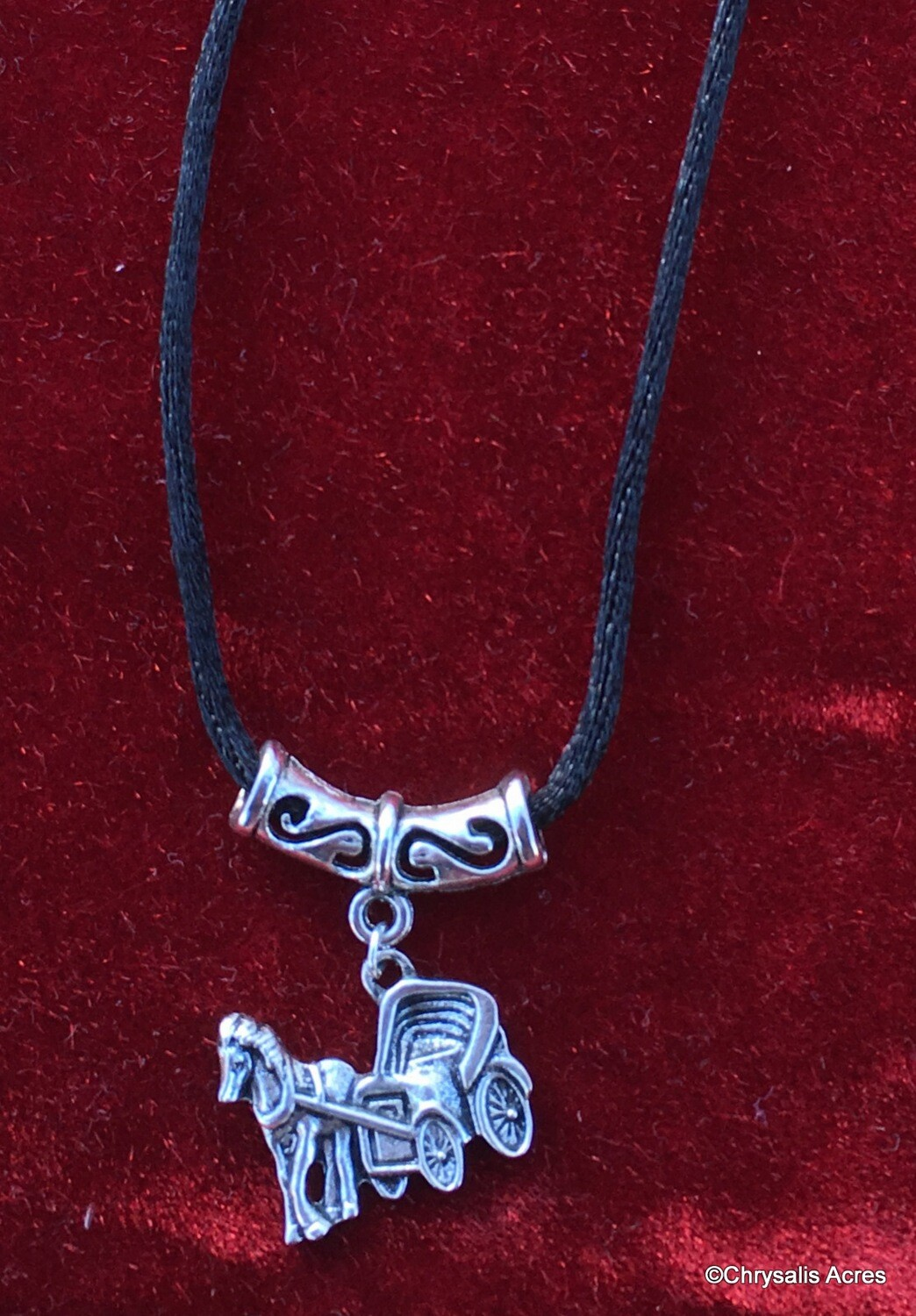 Handmade Jewelry - Horse and Carriage Necklace