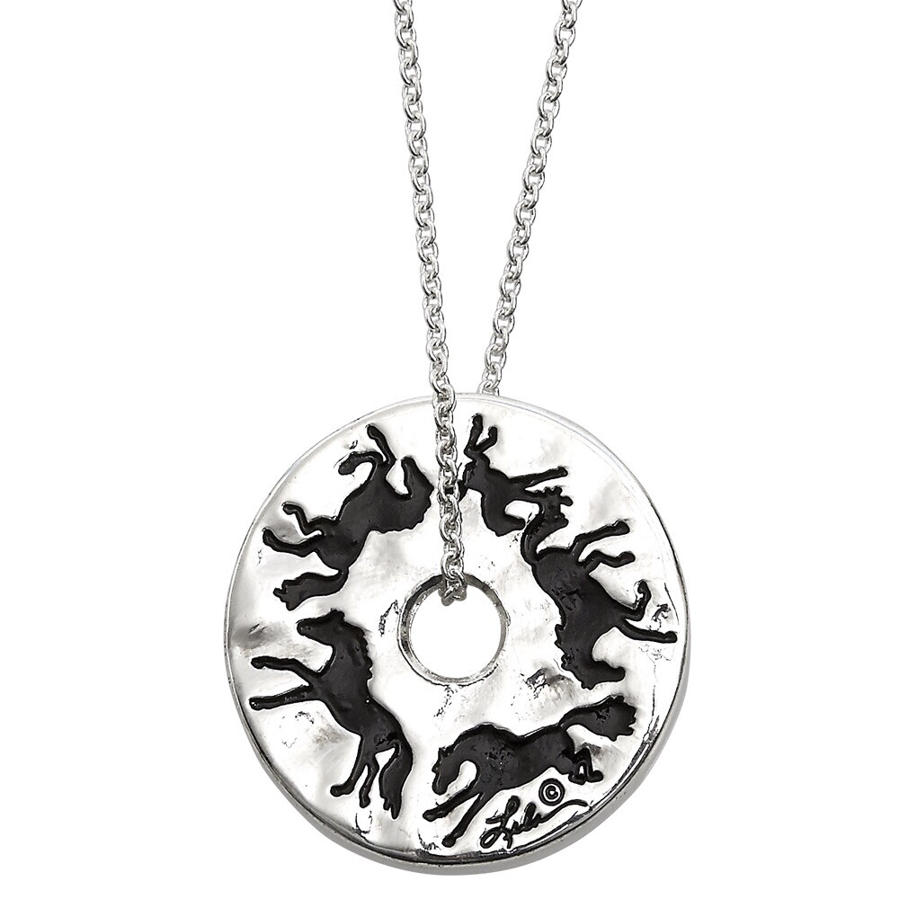 Galloping Around Pendant Necklace