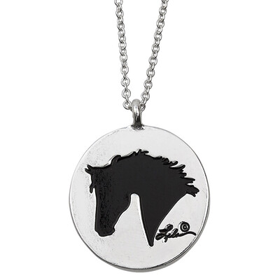 Horse Head / Live Laugh Love Ride Pendant