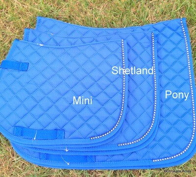 Quilted Saddle Pad w/bling