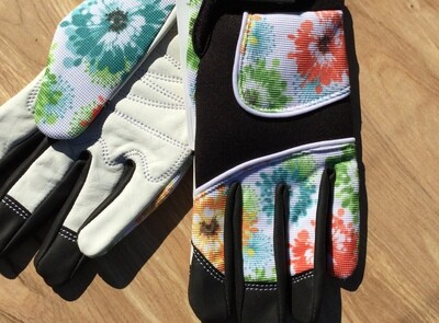 Floral Multi Color Gloves