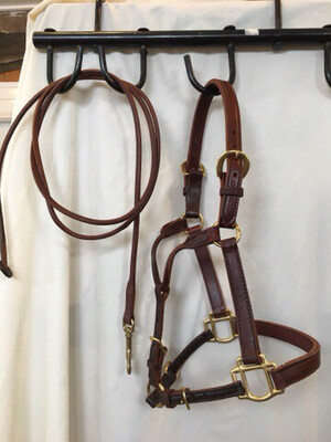 Soft Leather Show Halter