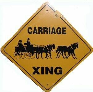 X-ing Metal Signs