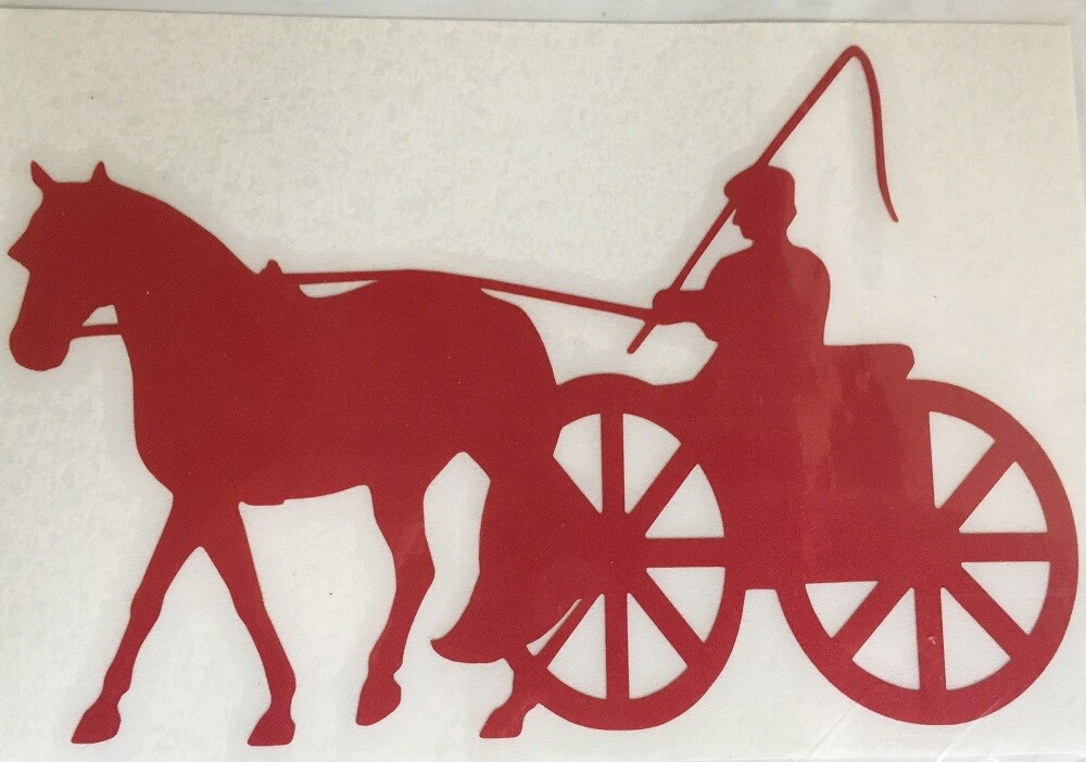 Reflective Decal - Single Horse & Cart