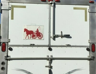 Jumbo Reflective Decal - Single Horse & Cart