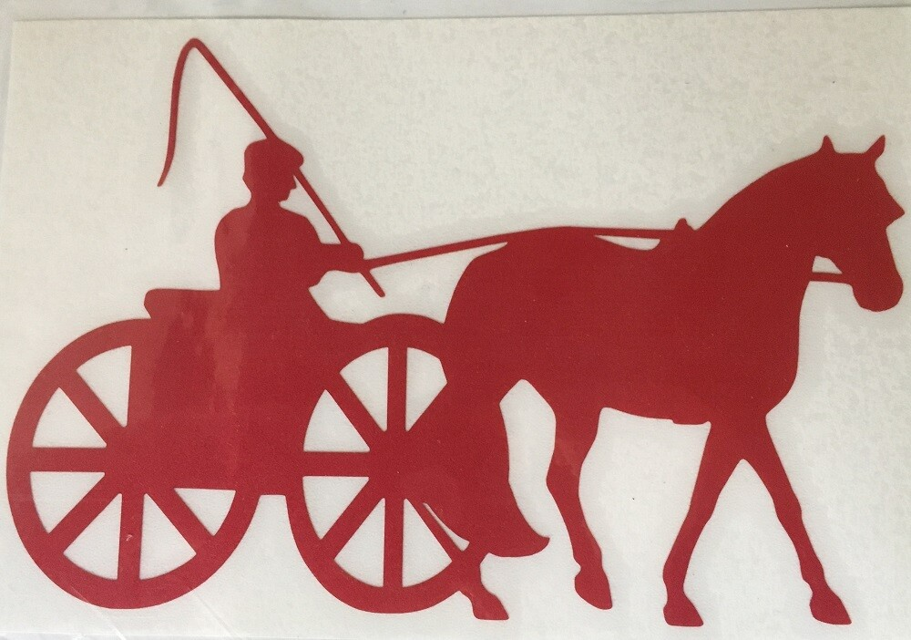 Jumbo Reflective Decal - Single Horse & Cart