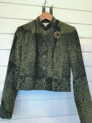 Loden Green and Black Blazer - Size 2