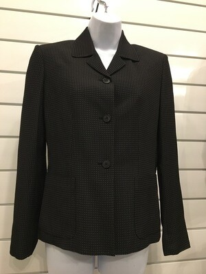 Black Blazer with  Small Tan Pattern