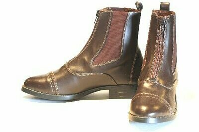 Synthetic Leather Zip up Paddock Boots