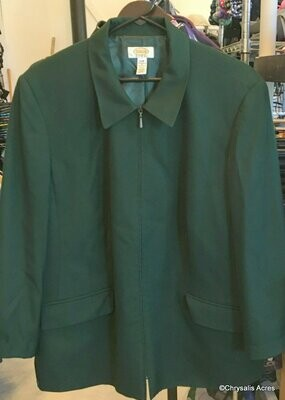 Green Full Zip Jacket  Size 16