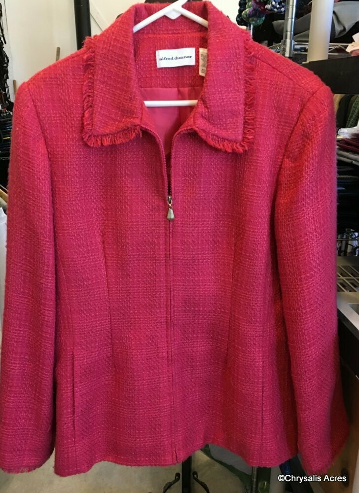 Coral Full Zip Jacket Size 16
