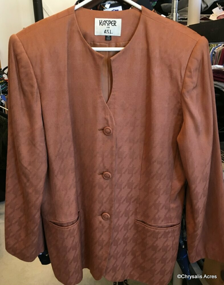 Copper Brown Blazer Size 14
