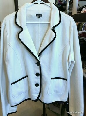 White w/Black trim Blazer Size XL