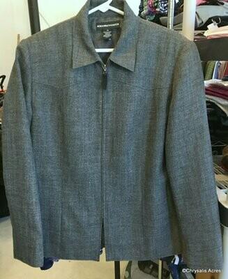 Gray Heathered Full Zip Jacket Size 14
