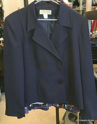 Navy Double Button Blazer Size 12