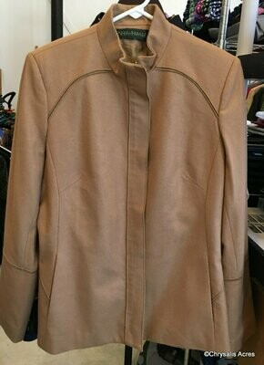 Light Brown Full Zip Blazer Size S/M