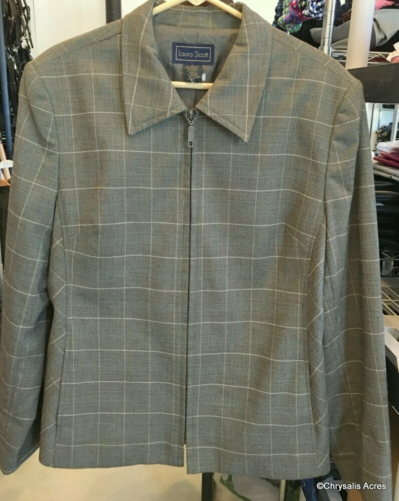 Gray Full zip Jacket Size 18