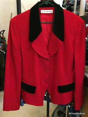 Red and Black Blazer Size 14